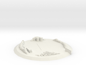 Large triage landing pad in White Natural Versatile Plastic