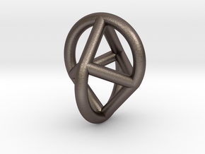 Oloicon in Polished Bronzed-Silver Steel