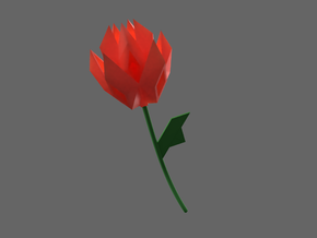 paper boat rose in Red Processed Versatile Plastic: Small