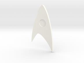Star Trek Discovery Badge (Science) in White Processed Versatile Plastic