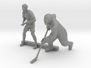 S Scale Tennis and Hockey Players in Gray PA12
