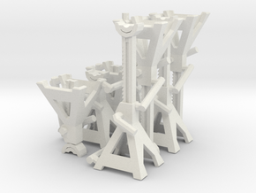1:18 jack stands in White Natural Versatile Plastic