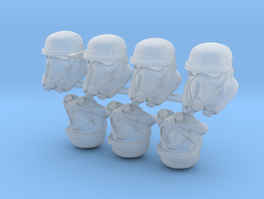 Dead Bucketheads (x7) in Smoothest Fine Detail Plastic