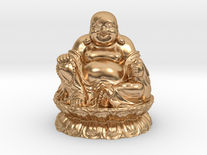 Laughing Buddha in Polished Bronze