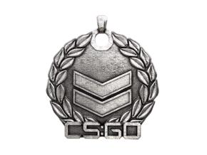 CS:GO Silver 2 Pendant in Polished Nickel Steel