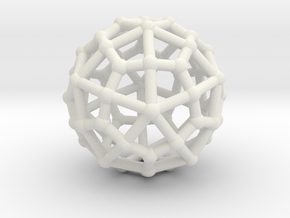 Deltoidal hexecontahedron MEDIUM in White Natural Versatile Plastic