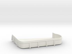 1/96 USN midship 3th deck port 20mm gun tub  in White Natural Versatile Plastic
