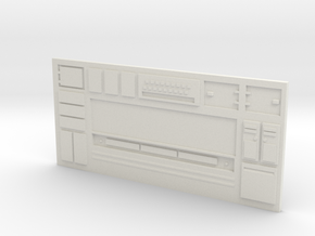 HO Large Sci-Fi Wall 2 in White Natural Versatile Plastic