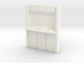 HO Wall Unit in White Processed Versatile Plastic