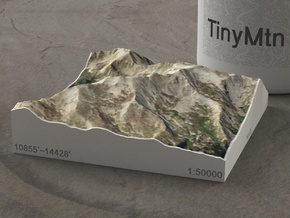 Mt. Massive, Colorado, USA, 1:50000 in Natural Full Color Sandstone