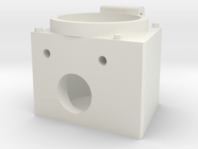 """Angle MU Box for 12 pin connector 1.5"""" scale in White Natural Versatile Plastic"""