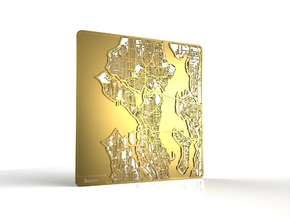 Seattle in 18k Gold Plated Brass