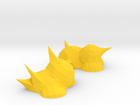 ! - 3D Explosion Tokens in Yellow Processed Versatile Plastic