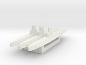 USN Guppy IIA refit 1/2400 x3 in White Natural Versatile Plastic