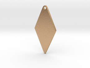 Cosplay Zipper Pull (Rhombus) in Natural Bronze