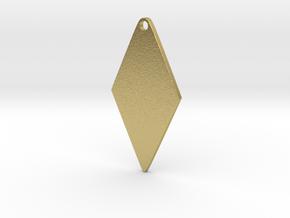 Cosplay Zipper Pull (Rhombus) in Natural Brass
