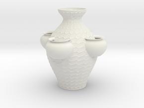 Vase MPP1013 (Downloadable) in White Natural Versatile Plastic