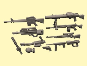 28mm Wastefall weapons 3 in Smoothest Fine Detail Plastic