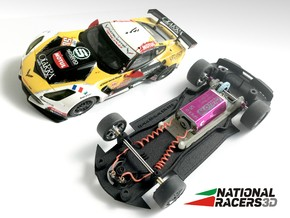 3D Chassis - Carrera Chevrolet C7.R (Combo) in Black Natural Versatile Plastic