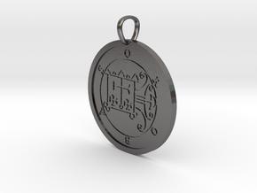 Orobas Medallion in Polished Nickel Steel