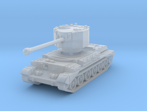 Challenger tank scale 1/160 in Smooth Fine Detail Plastic