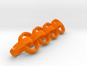 voronoi 8 earrings or rings in Orange Processed Versatile Plastic