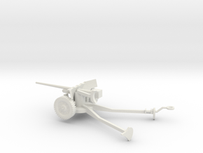 1/72 Scale M1A3 57mm Anti Tank Gun Deployed in White Natural Versatile Plastic