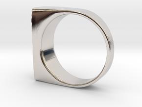 Moonwalk Ring  in Rhodium Plated Brass: 7 / 54