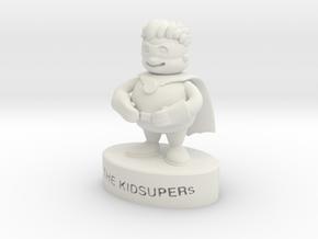 KidSuper Model in White Natural Versatile Plastic