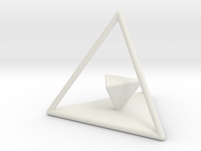 Dual Solids Tetrahedron (no hole) in White Natural Versatile Plastic