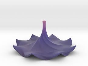Purple Flower Incense Holder in Matte Full Color Sandstone