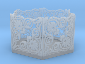 Tealight Holder in Smooth Fine Detail Plastic