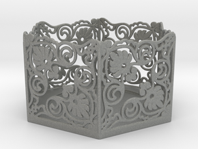Tealight Holder in Gray Professional Plastic