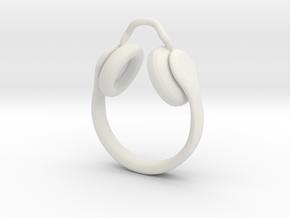 Headphones Jewel  in White Natural Versatile Plastic