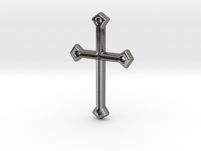 Hannah's Communion Cross (T1) in Fine Detail Polished Silver