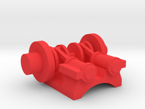Steam Combine Engine  in Red Processed Versatile Plastic