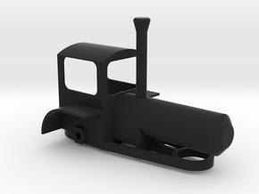 Steam Traction Engine in Black Natural Versatile Plastic