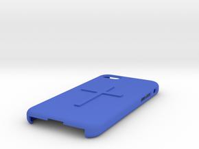 Iphone 8 case Christian cross in Blue Processed Versatile Plastic