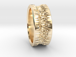 Ring in 14k Gold Plated Brass