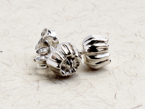 Barnacle Earrings - Nature Jewelry in Polished Silver