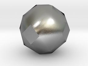 geommatrix 72mm f54 polyhedron in Natural Silver