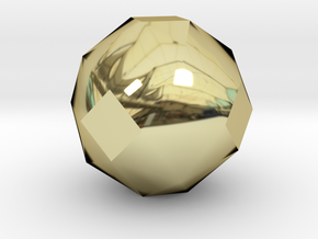 geommatrix 72mm f54 polyhedron in 18K Yellow Gold