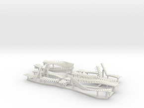 50cal Ammo Belts, multiple scales in White Natural Versatile Plastic: 1:12