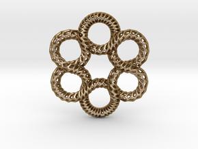 2SK Pendant in Polished Gold Steel