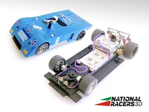3D Chassis - Fly Chevron B19/B21 (SW)  in Black Natural Versatile Plastic