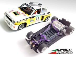3D Chassis - Fly Renault 5 Turbo (Combo) in Black Natural Versatile Plastic