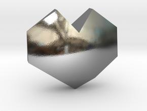 geommatrix f134 heart d 1  in Polished Silver