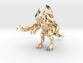 Pacific Rim Axehead Trespasser Kaiju Monster in 14k Gold Plated Brass