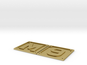 1.5 inch scale M6/9 front buffer beam numbers in Natural Brass