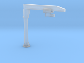 N Scale Column Jib Crane in Smooth Fine Detail Plastic